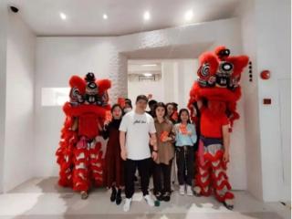 醒狮献瑞,珠江国际纺织城与广大商户喜迎旺市!